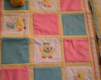Duckies Cuddly Minky Blanket