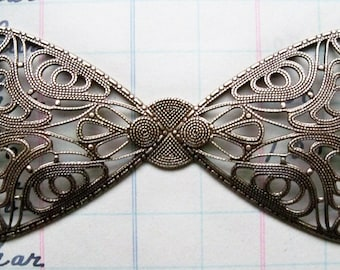 Neo Victorian Filigree Bow, Brass Ox, Filigrees Made in the USA