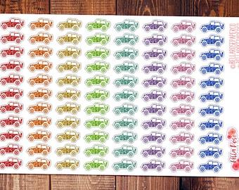 Glitter Jeep Planner Stickers, Travel Planner Stickers, Car Planner Stickers, for use in Erin Condren Planners, Happy Planner Stickers DI014