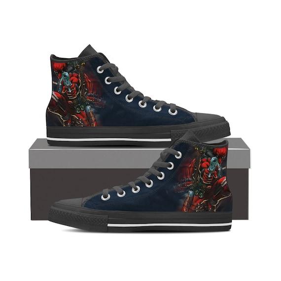 Gift High Wade Deadpool Sneaker Deadpool Deadpool Custom Custom Deadpool Shoes Shoes Custom Marvel Wilson Converse Top Custom Top High Fqq1pg