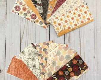 Laminated Cash Envelopes - Fall Floral