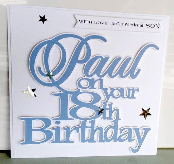 18th birthday card son18th birthday card grandson18 birthday like this item bookmarktalkfo Choice Image