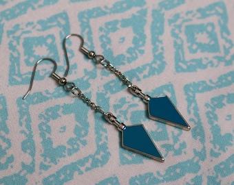 Blue Arrow Earrings