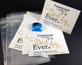 12 Wedding Rehearsal Dinner Party Favors,Tomorrow is Going to be the Best Day Ever Party Bags, Wedding Rehearsal Favors,Candy Bags & Toppers