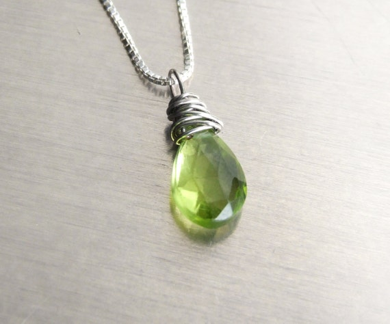 silver peridot necklace heidi products grande