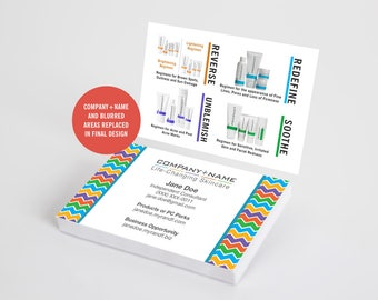 Rodan and Fields Business Cards, Chevron, R and F Cards, RF, Rodan Business Card, Marketing, Branding, Printable, Digital