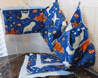 8 Piece Finding Nemo Sugar Glider Cage Set