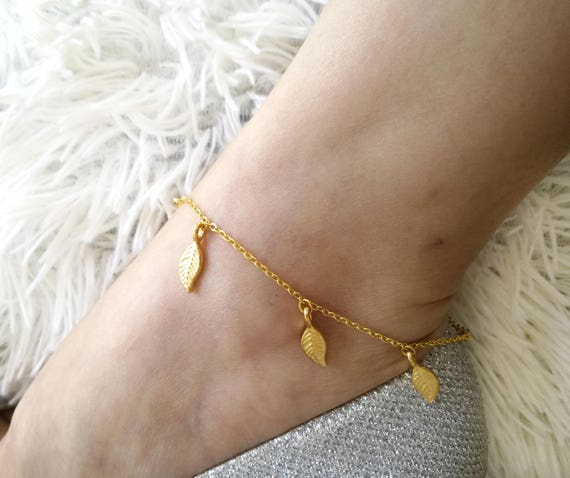 chain pin anklet beads made with dainty dangle delicate gold leg ankle the bracelet sohocraft by