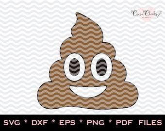 Emoji Poo / Emoji  SVG / Poop Emoji / SVG Cutting Files / svg, dxf, studio3, eps, pdf, png / Silhouette files / Cricut Files / Cutting emoj