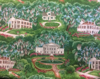 Southern Charm  Cotton Fabric Sold by The Yard