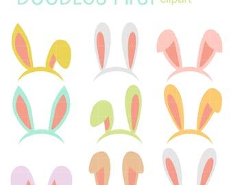 bunny ears clip art etsy rh etsy com cute bunny ears clipart bunny ears clipart