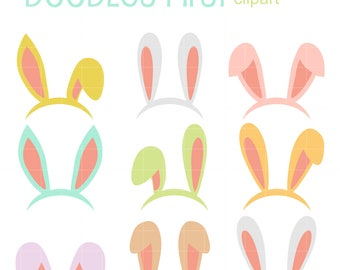 bunny ears clip art etsy rh etsy com  bunny ears clip art free