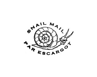 Snail Mail Par Escargot Rubber Stamp