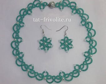 Frivolite necklace and earrings