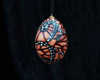 Monarch Butterfly Goose Egg Ornament