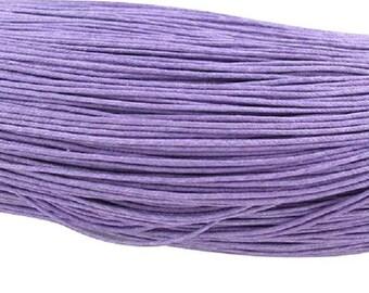 waxed cotton cord 1,5mm lilac medium 10m