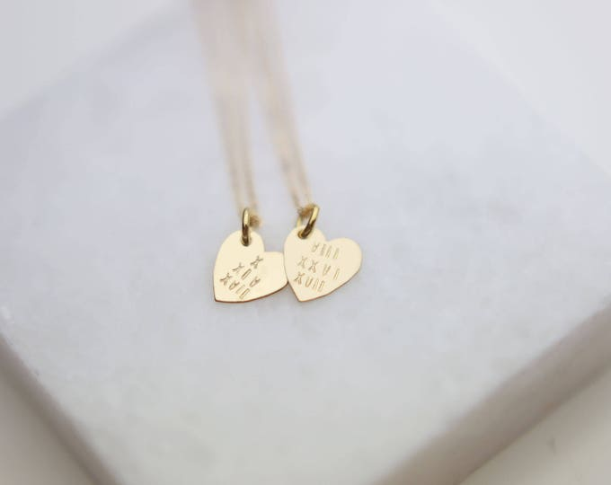 Personalized Roman Numeral Wedding date Heart Necklace // Roman numeral date necklace // Charm necklace