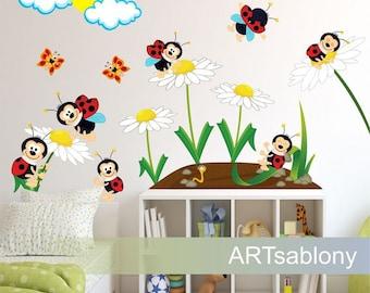 Wall Sticker Ladybugs (3521nf)