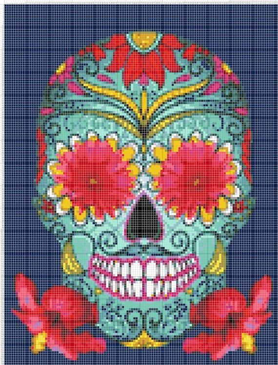 Buy 2 Get 1 Free Sugar Skull 276 Cross Stitch Pattern