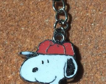 Snoopy Baseball Keychain