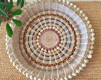 Large Cowrie Shell Basket