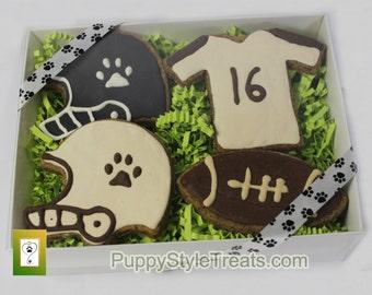 GRAIN-FREE Footbal Fan decorated dog treats