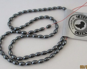 Oval Beads Hematine