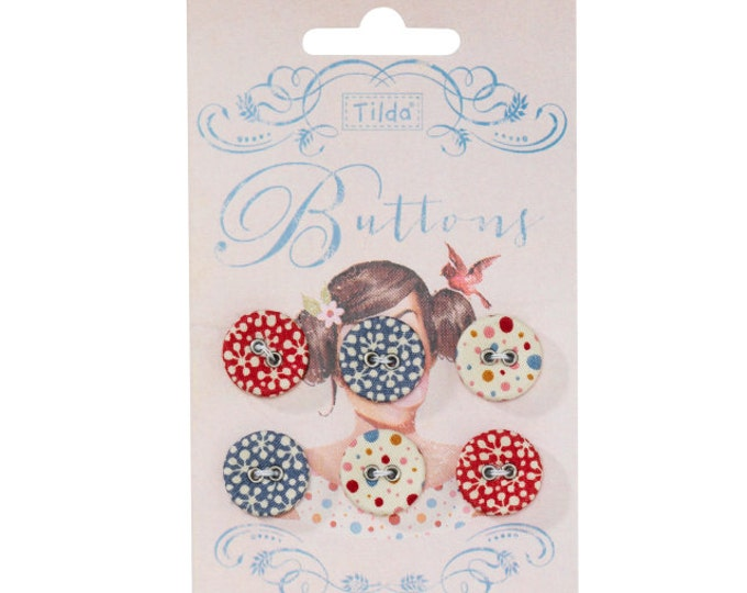 TILDA Candy Bloom - Fabric Covered Buttons