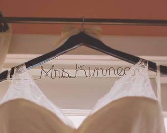 Wedding hanger, personalized hanger, bride hanger, bridal party hangers, wire hangers, bridal party gifts,  hanger, bridesmaid hangers