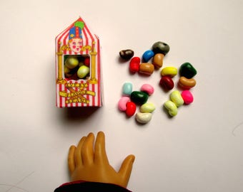 """American Food 18"""" Girl Doll Harry Potter Inspired Accessory Bertie Bott's Every Flavour Beans Inspired Candy Miniature Doll Halloween Wizard"""