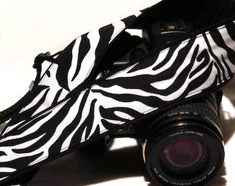 Zebra Camera Strap. Zebra Print Camera Strap.. DSLR Camera Strap. Camera Accessories