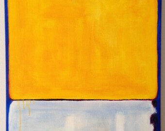 Hand Painted Mark Rothko Inspired No. 10 Painting Reproduction On Canvas