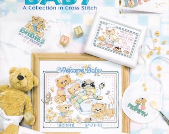 Leisure Arts #3366/Linda Gillum/ Very Best for Baby Cross Stitch Collection/2002