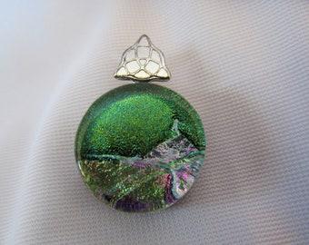 Petite Dichroic Green Pendant