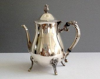 Mid Century Leonard Silver Plate Teapot Silver Plate Tea or Coffee Server 5 Cups & Leonard silver cups | Etsy