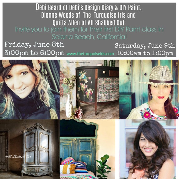 Friday, June 8th DIY Paint Class at House Vintage in Solana Beach, CA
