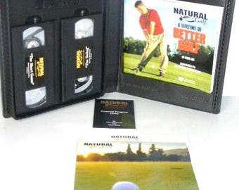 82117B11 NATURAL GOLF Bob Rosburg Lifetime Better Golf VHS Audio Tape & Book Golf Reference Golf Club Golf Tee Golf Coarse