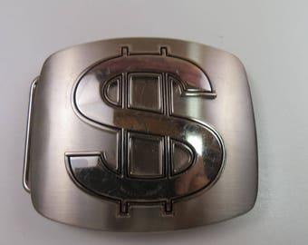 Stainless Steel Dollar Sign Money Belt Buckle