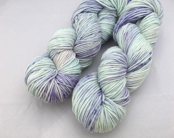 Hand dyed yarn Delux DK-'Shy Violet'