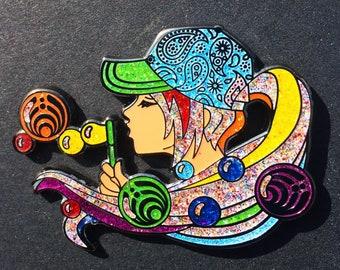 BassBubbles, Bassnectar, hat pin