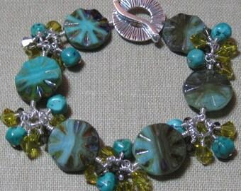 Turquoise Radiance Cluster Station Bracelet - B200