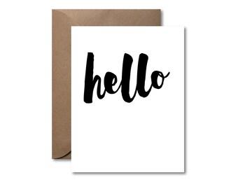 Hello  |  Letterpress Card