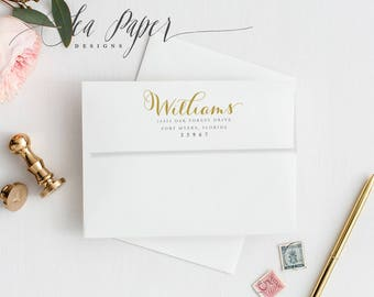 Return And/or Guest Addressing, Matching Any Invitation Design In The Shop! - Sea Paper Designs