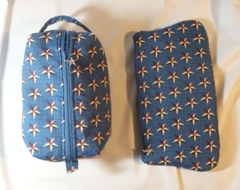 Military Bag, Star Pouch, Toiletry Bag, Cosmetics Clutch, Moisture Proof Bag, Dopp Kit, Ditty Bag, Go Bag, Zip Pouch - Choose Style & Size
