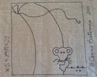 "Peek-A-Boo Pumpkin Rug Hooking  Pattern (14"" x 14"""")"