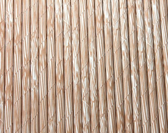 "SALE, 25 Wood Grain Paper Straws birthday party  weddings baby shower ""Same Day Shipping"""