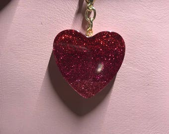 Red ombre planner charm