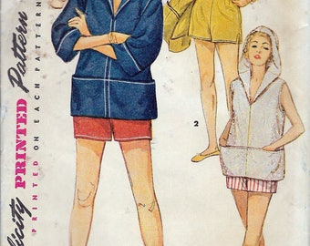 """Vintage 1954 Simplicity 4714 Bra, Shorts & Middy Top Sewing Pattern Size 18 Bust 36"""""""