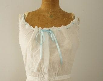 1900s corset cover   vintage edwardian lingerie
