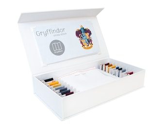 Gryffindor Cross Stitch Kit - Stitchering Box - Organized Materials of Premium Quality - Perfect for Beginners and Experienced Craftiers
